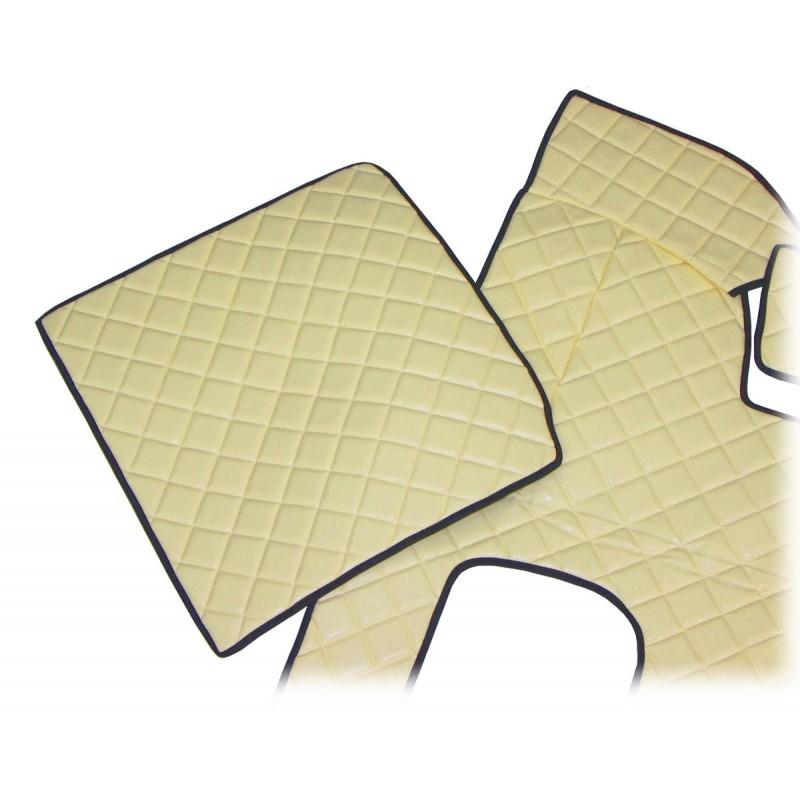 Fußmatten aus Kunstleder Rautenmuster in Beige passend für MAN TGX 2007 - 2018 Schaltgetriebe