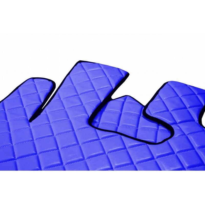 Fußmatten + Tunnelabdeckung aus Kunstleder in Blau passend für DAF XF 105 ab 2012 Automatik Getriebe