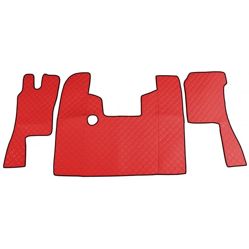 Fußmatten Tunnelabdeckung Rot passend für Scania 124 Automatik Getriebe
