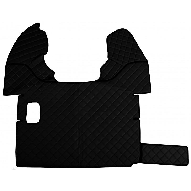 Fußmatten + Tunnelabdeckung aus Kunstleder in Schwarz passend für DAF 105 XF 2006-2012 Schaltgetriebe
