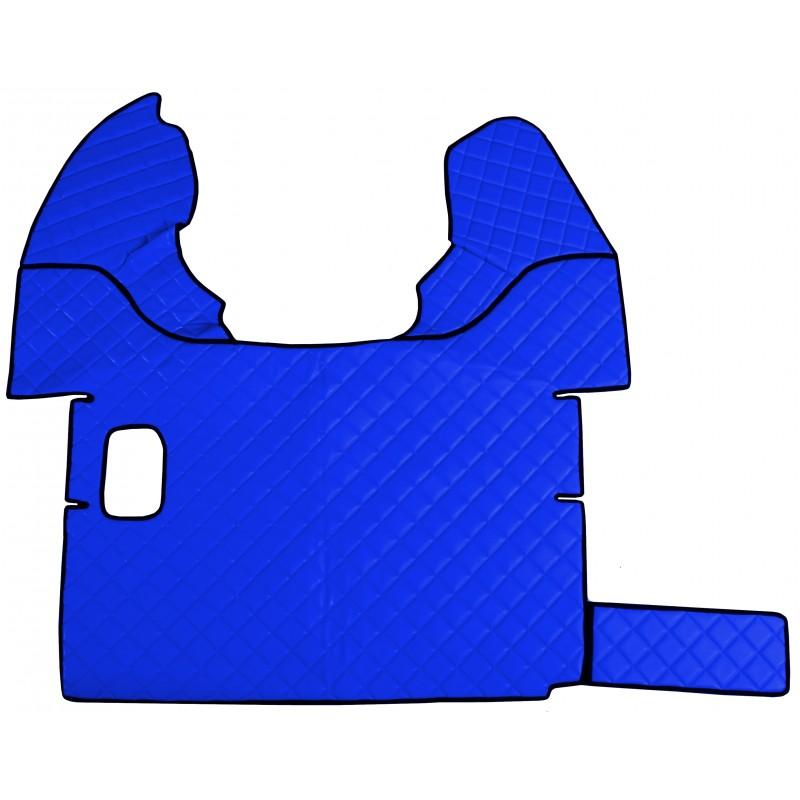 Fußmatten + Tunnelabdeckung aus Kunstleder in Blau passend für DAF 105 XF 2006 - 2012 Schaltgetriebe