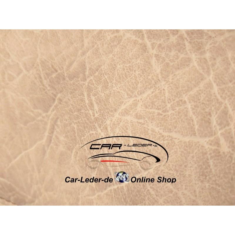 Fußmatten + Tunnelabdeckung aus Glatt Kunstleder in Beige passend für Mercedes Actros MP5