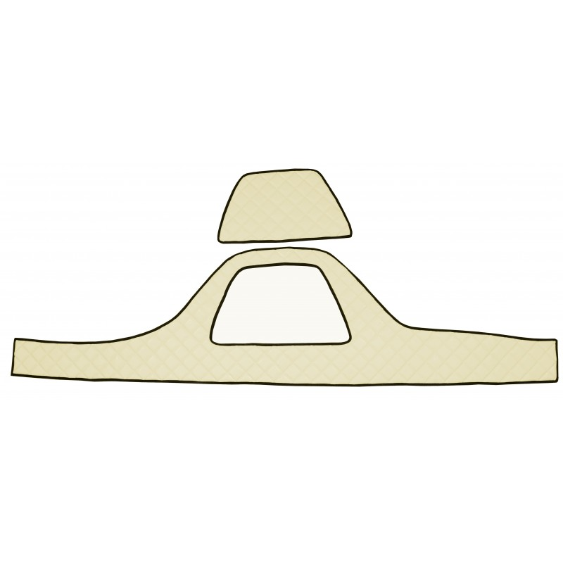Armaturenbrett Abdeckung aus Kunstleder in Beige passend für DAF XF 105 ab 2006 und DAF XF 106