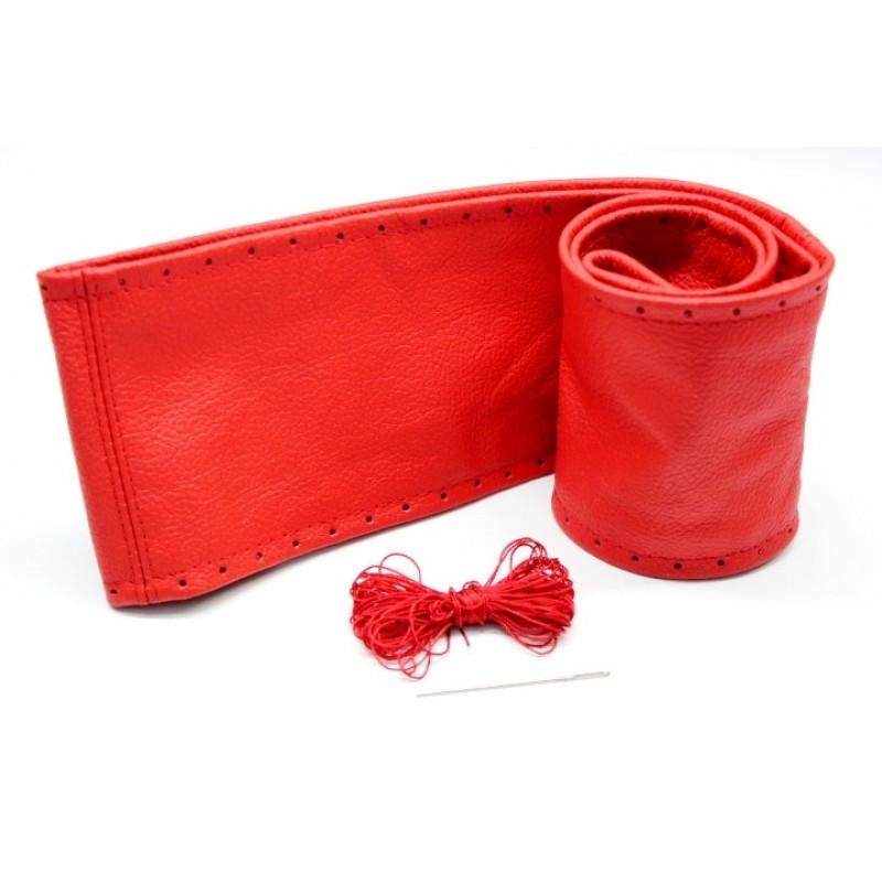 Lenkradschoner aus Echtem Leder zum Schnüren Rot