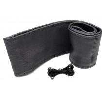 Lenkradschoner aus Echtem Leder zum Schnüren Schwarz